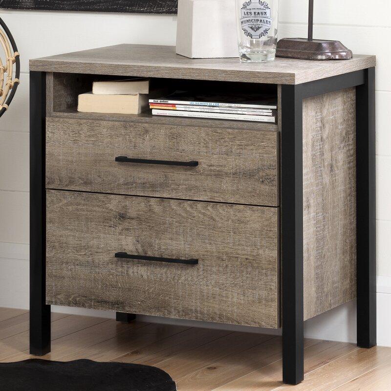 munich 2 drawer nightstand & reviews | allmodern Nightstand