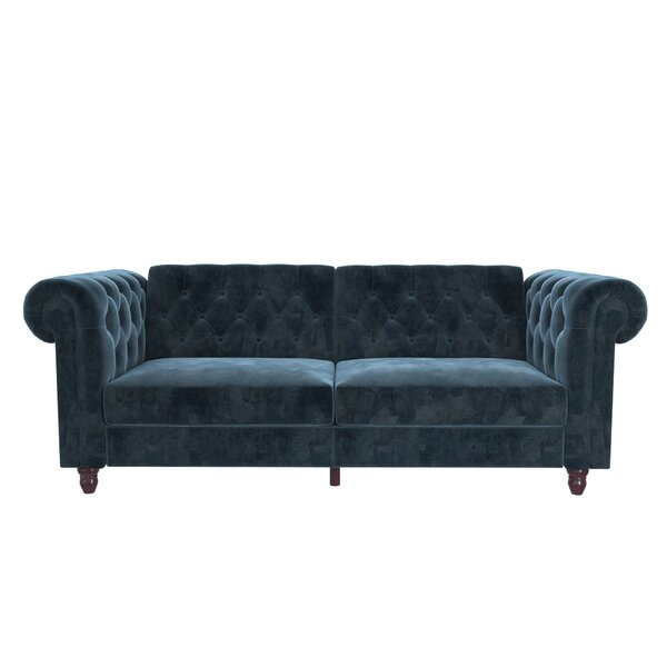 Looking for Aranza Chesterfield Convertible Sofa By House Of Hampton Great price
