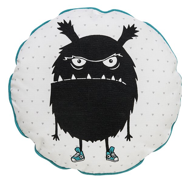 Drumcullen What Monster Cotton Throw Pillow by Harriet Bee