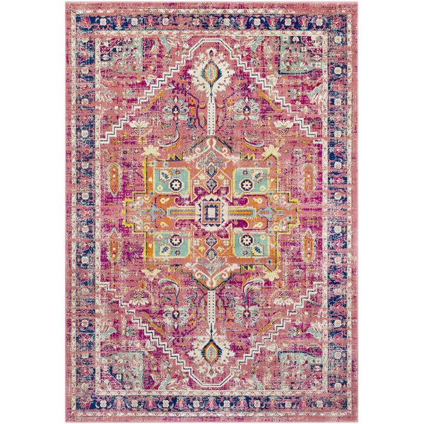 Anil Distressed Garnet/Purple Area Rug by Bungalow Rose