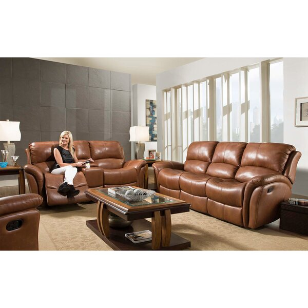 Czapla Reclining 3 Piece Leather Living Room Set by Orren Ellis