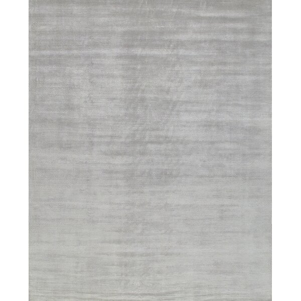 Transitiona Hand-Knotted Wool Gray Area Rug by Pasargad