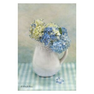 'Hydrangea Morning' Painting Print on Wrapped Canvas by Ophelia & Co.
