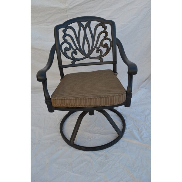Kristy Swivel Patio Dining Chair with Cushion by Darby Home Co