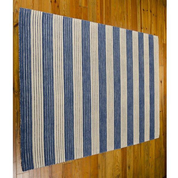 Ripple Midnight Blue Area Rug by Barclay Butera