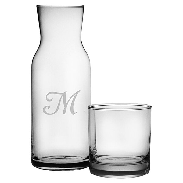2 Piece Personalized 38.5 oz. Carafe Set by Susquehanna Glass