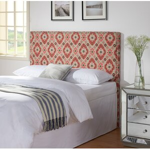 Holly in Strawberry Upholstered Panel Headboard by Zipcode Design