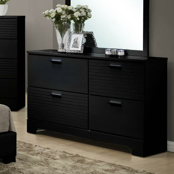 Moderno 4 Drawer Drawer Double Dresser by Wildon Home®