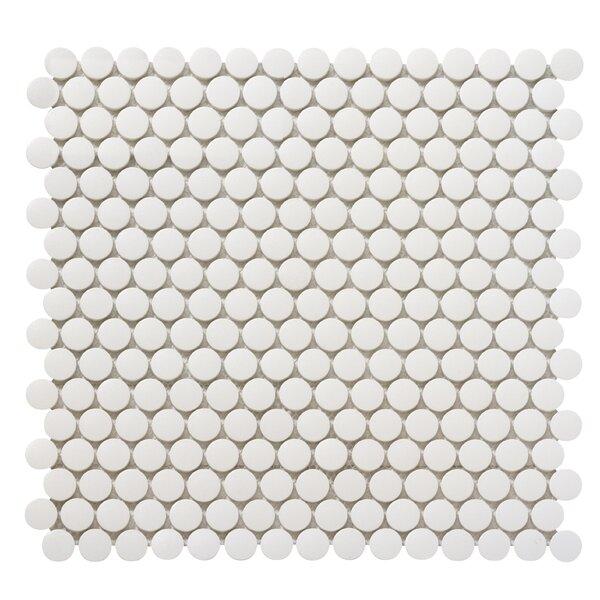 Zone 0.8 x 0.8 Porcelain Mosaic Tile in White by Emser Tile