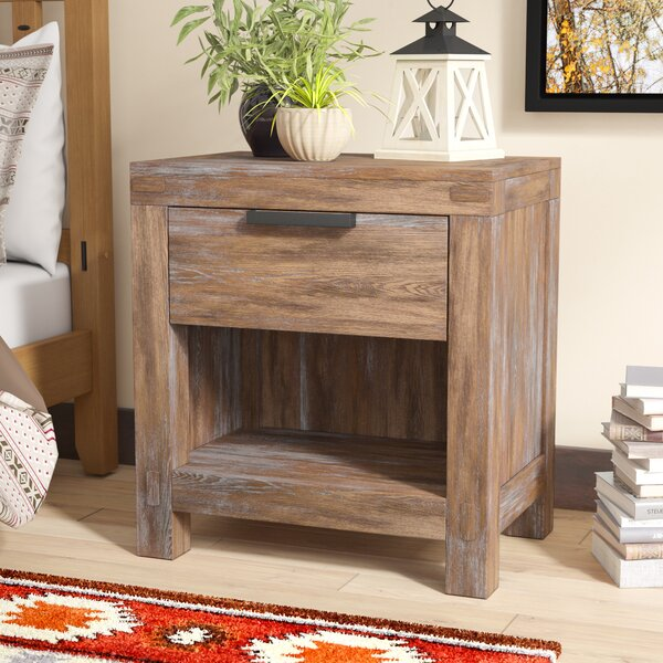 Perez 1 Drawer Nightstand by Union Rustic