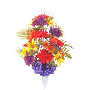 Mixed Mum Floral Vase Arrangement