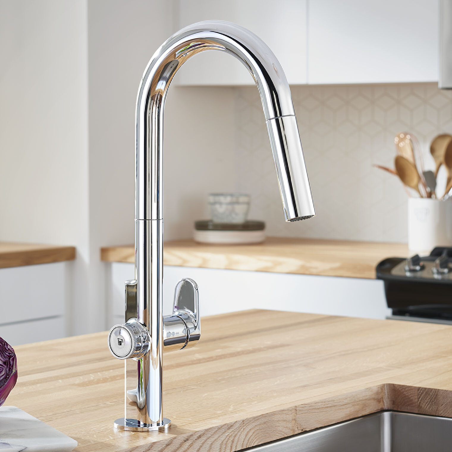 Beale Pull Down Touch Single Handle Kitchen Faucet