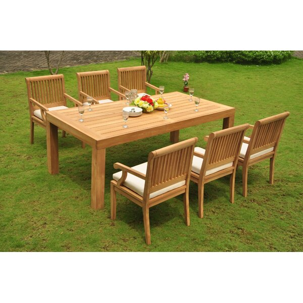 Ophir 7 Piece Teak Dining Set by Rosecliff Heights