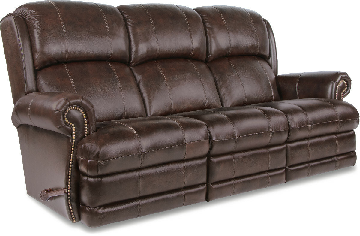 La Z Boy Kirkwood Reclina Way® Full Leather Reclining Sofa | Wayfair