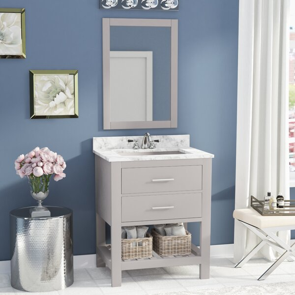Rizer 30 Single Bathroom Vanity with Mirror by Willa Arlo Interiors