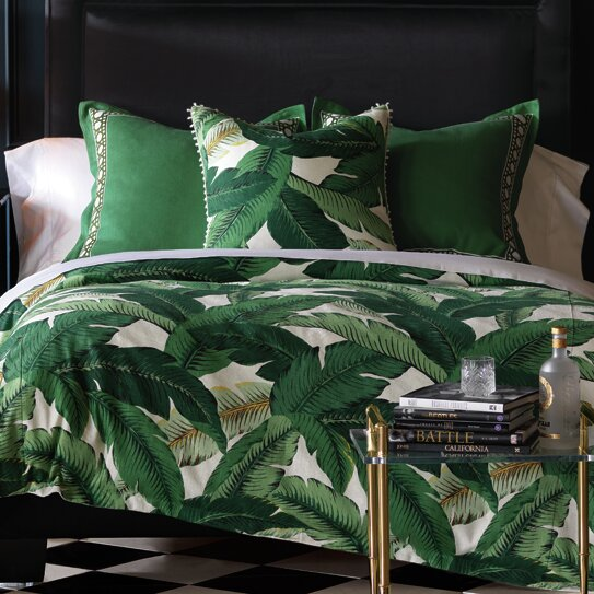 Lania Palm Hand Tacked Single Reversible Comforter