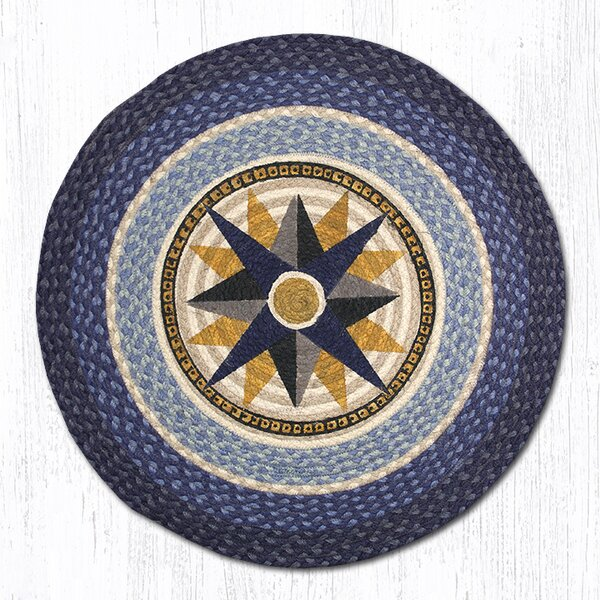Compass Printed Area Rug by Earth Rugs