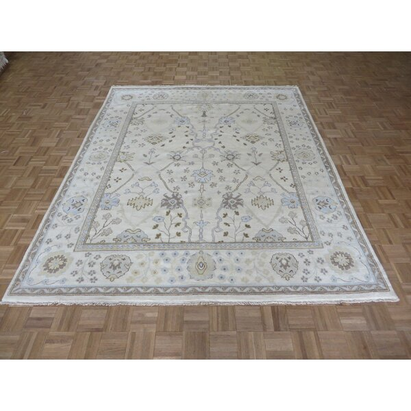 One-of-a-Kind Josephson Oushak Hand-Knotted Wool Ivory Area Rug by Canora Grey