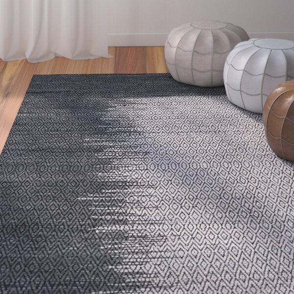 Makenna Geometric Hand-Woven Light Gray Area Rug by Mistana
