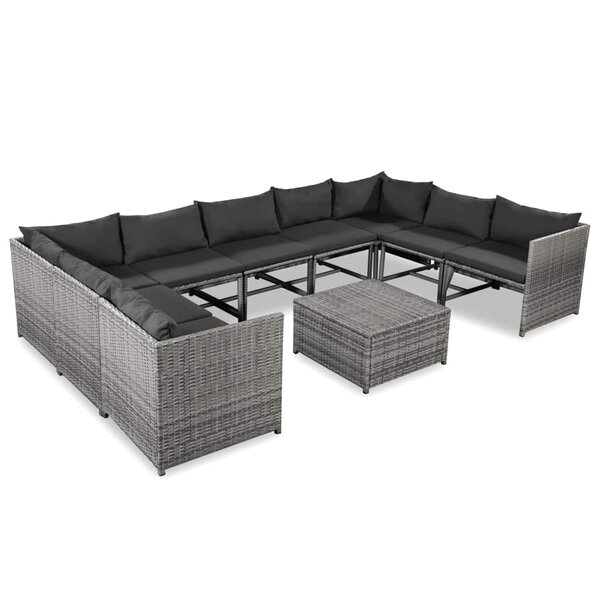Mairie 10 Piece Sectional Seating Group with Cushions by Ebern Designs