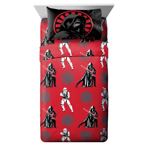 Ep7 Rule Galaxy Twin Polyester 3 Piece Sheet Set by Star Wars