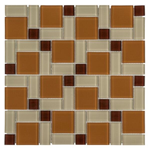 Ambit Glass Mosaic Tile in Suntan by EliteTile