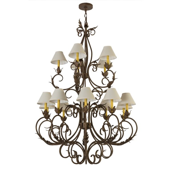 Hallsburg 15 - Light Candle Style Tiered Chandelier By Astoria Grand