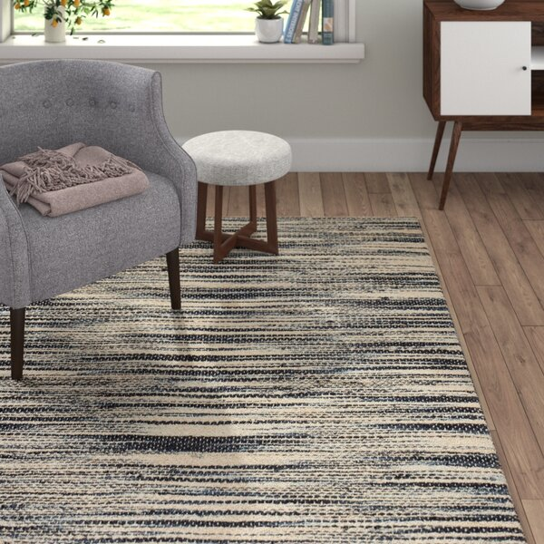 Zareen in Ivory/Black Area Rug by Langley Street