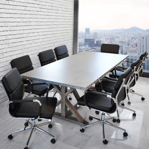 Rhead Rectangular 30H x 40W x 84L Conference Table by Ebern Designs