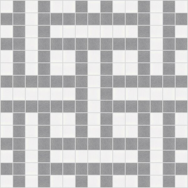 Urban Essentials Basket Weave 3/4 x 3/4 Glass Glossy Mosaic in Calm Grey by Mosaic Loft