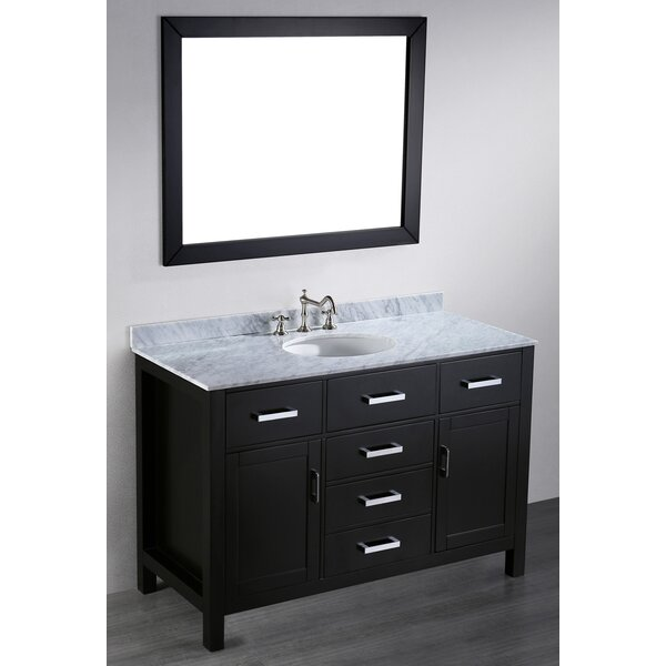 Teixeira 49 Single Bathroom Vanity Set with Mirror by Brayden Studio