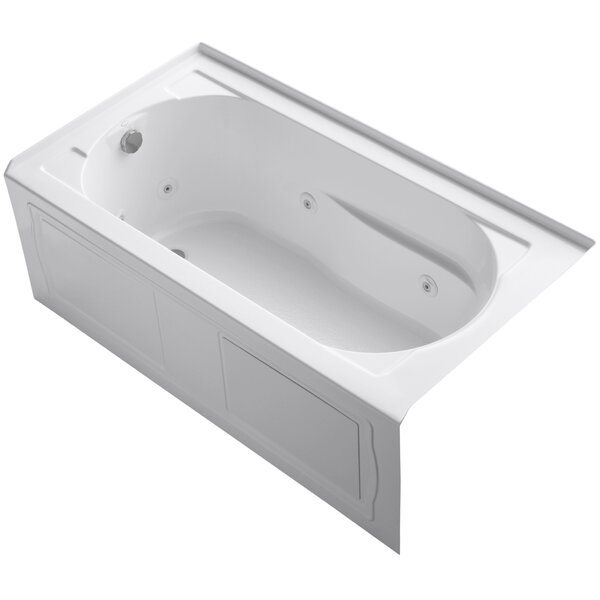 Devonshire Alcove Whirlpool Bath with Integral Apron, Tile Flange, Left-Hand Drain and Bask Heated Surface by Kohler