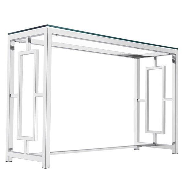 Rhoads Stainless Steel Console Table by Mercer41