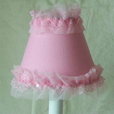 Pirouette 4 H Fabric Empire Candelabra Shade ( Clip On ) in Pink