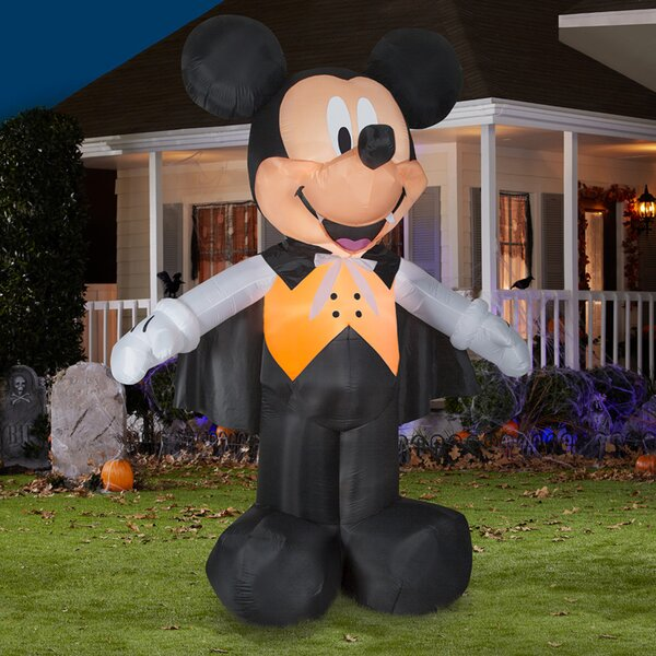 Disney Mickey Vampire in Vest Inflatable by The Holiday Aisle