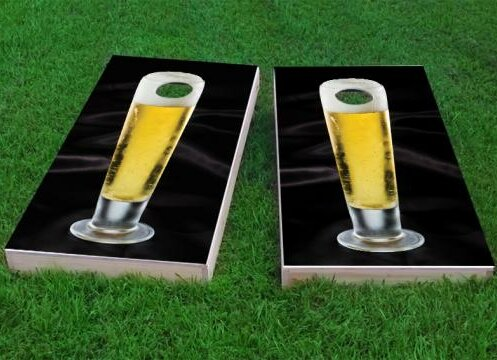 Nice Cold Tall Beer Cornhole Game (Set of 2) by Custom Cornhole Boards