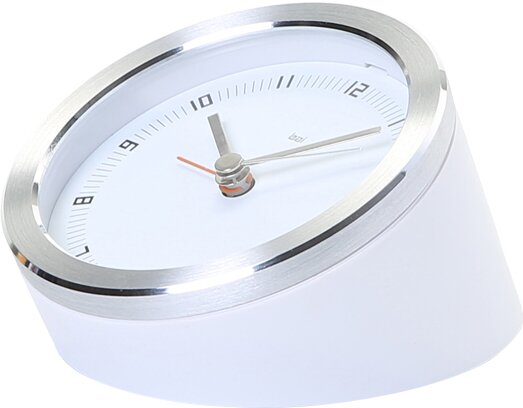 3.5 Blanco Executive Alarm Clock by Bai Design