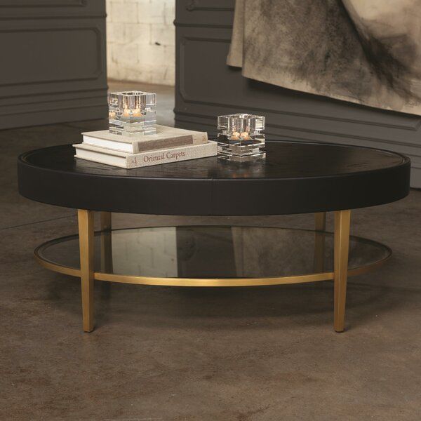 Ellipse Coffee Table with Tray Top