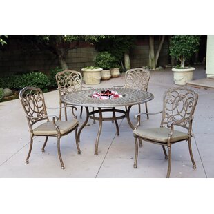 Dolby Traditional 5 Piece Dining Set with Cushions By Astoria Grand