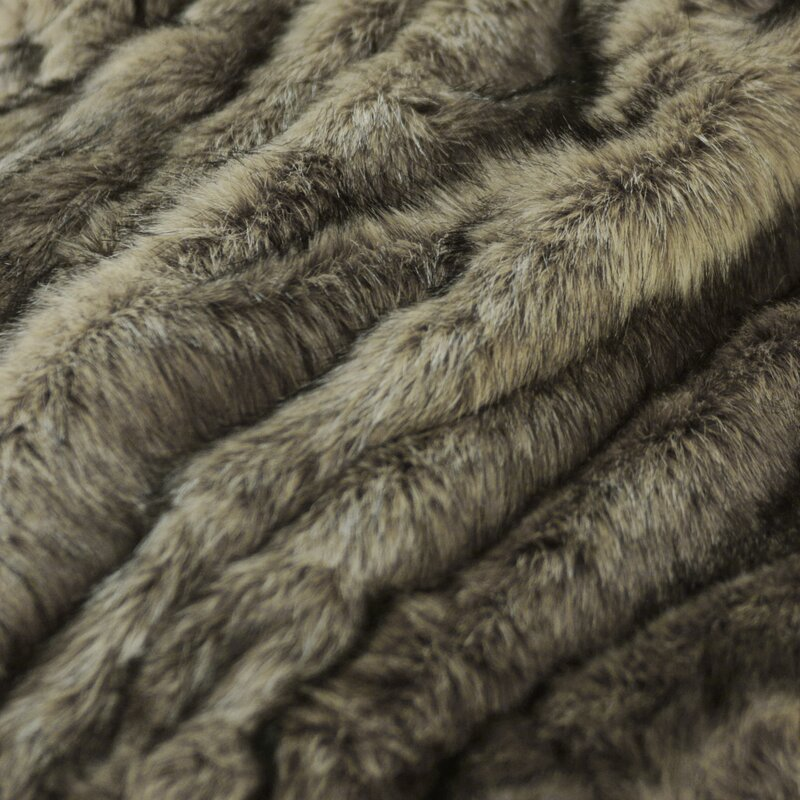 Tawny Fox Faux Fur Throw Blanket