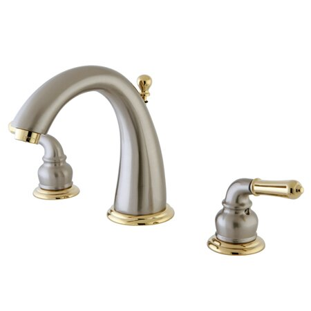 Naples Widespread Bathroom Sink Faucet with Brass Pop-up by Kingston Brass