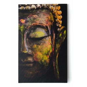 Buddha Graphic Art Print on Wrapped Canvas by Lone Star Chairs