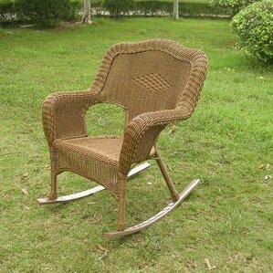 chelsea outdoor wicker resin patio rocking chair