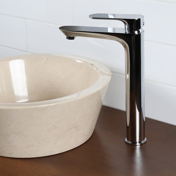 Flou Deck-Mount Single Hole Bathroom Faucet With Drain Assembly By LACAVA