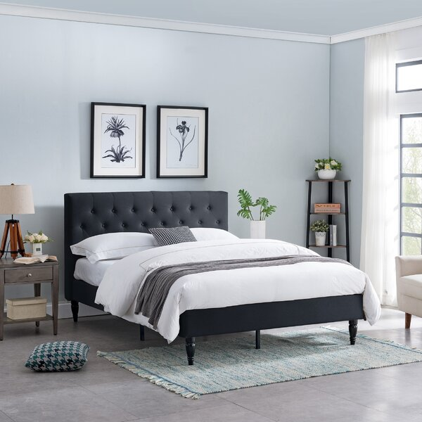 Emmy Queen Upholstered Platform Bed by Andover Mills