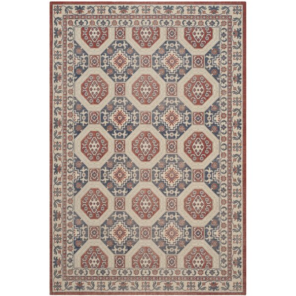 Patina Rust/Navy Area Rug by Darby Home Co