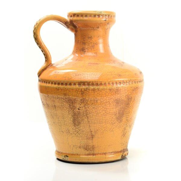 Casablanca Luca Terra Cotta Table Vase by IMPULSE!