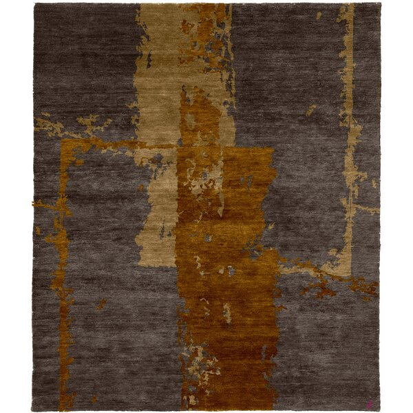One-of-a-Kind Tinisha Hand-Knotted Traditional Style Gray 12' x 18' Wool Area Rug