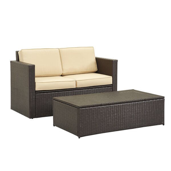 Annouritte 4 Piece Rattan Sofa Seating Group with Cushions
