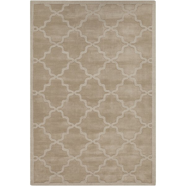 Blankenship Tan Wool  Abbey Area Rug by Charlton Home